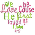 Heart Scripture Applique Design
