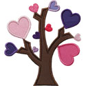 Heart Tree Applique Design