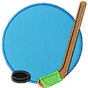 Hockey Puck Frame Applique Design