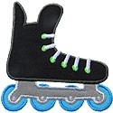 Hockey Skate Rollerblade Applique Design