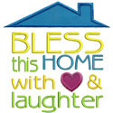 Home Love Laughter Applique Design