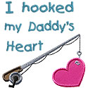 Hooked Daddys Heart Applique Design