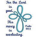 Infinity Cross Psalm Applique Design