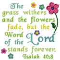 Isaiah Scripture Applique Design