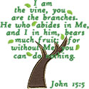 John 15 Vine Branches Applique Design