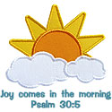Joy Comes Morning Applique Design