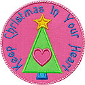 Keep Christmas Heart Applique Design