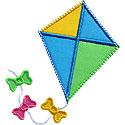 Kite Bows Applique Design