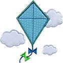 Kite Clouds Applique Design