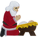 Kneeling Santa Applique Design