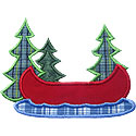 Lake Canoe Applique Design