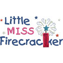 Little Miss Firecracker Applique Design