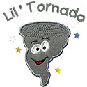 Little Tornado Applique Design