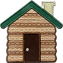 Log Cabin Applique Design