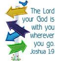 Lord God Wherever Go Applique Design