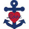 Love Anchors Applique Design