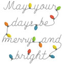 Merry And Bright Applique Design