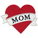 Mom Heart Applique Design