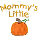 Mommys Little Pumpkin Applique Design