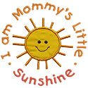 Mommys Sunshine Applique Design