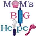 Moms Big Helper Applique Design