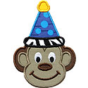 Monkey Party Hat Applique Design
