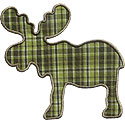Moose Silhouette Applique Design