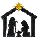 Nativity Silhouette Applique Design