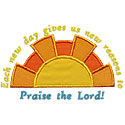 New Day Praise Lord Applique Design