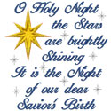 O Holy Night Applique Design