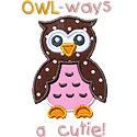 Owl Cutie Applique Design