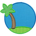 Palm Tree Frame Applique Design
