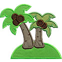 Paradise Island Applique Design