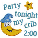 Party My Crib Applique Design
