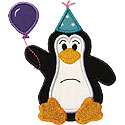 Party Penguin Applique Design