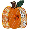 Patched Pumpkin Applique Design