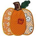 Patched Pumpkin Applique Design