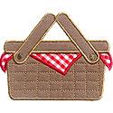 Picnic Basket Applique Design
