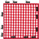 Picnic Blanket Ants Applique Design