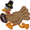 Pilgrim Football Turkey Applique Design