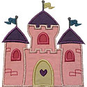 Princess Castle Applique Design