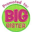 Promoted Big Sis Applique Design