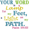 Psalm 119 Your Word Applique Design