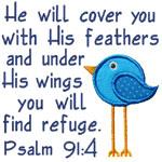 Psalms Refuge Verse Applique Design