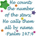 Psalm Stars Applique Design