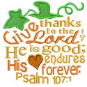 Pumpkin Bible Verse Applique Design