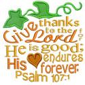 Pumpkin Bible Verse Applique Design