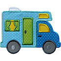RV Camper Applique Design
