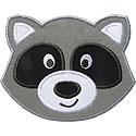 Raccoon Face Applique Design