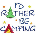Rather Be Camping Applique Design